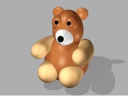 Plastic Toy Bear 3d preview