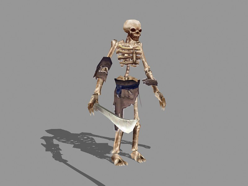 Undead Skeleton Warrior 3d rendering