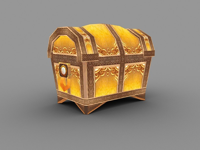 Treasure Chest Box 3d rendering