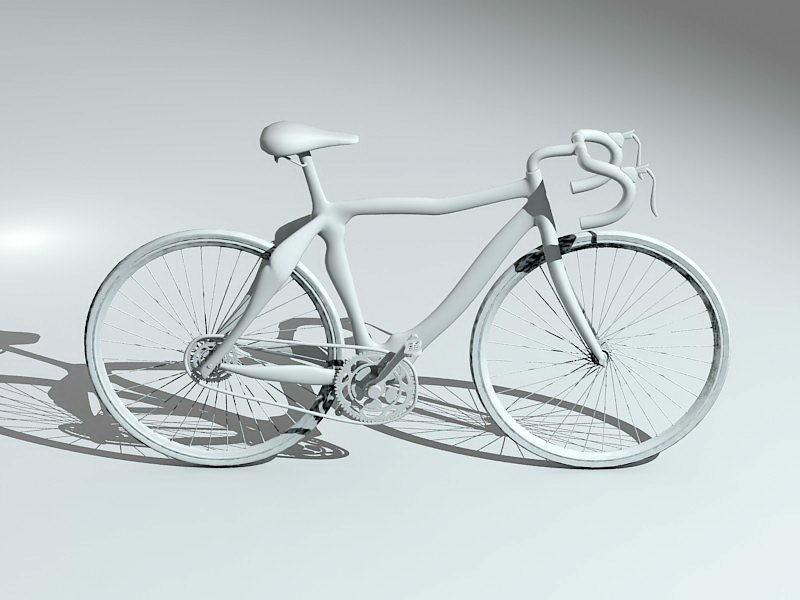 Road Bicycle 3d rendering