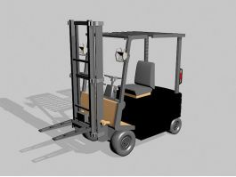 Warehouse Forklift 3d preview