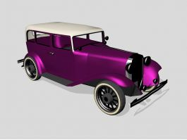 Purple Classic Car 3d preview