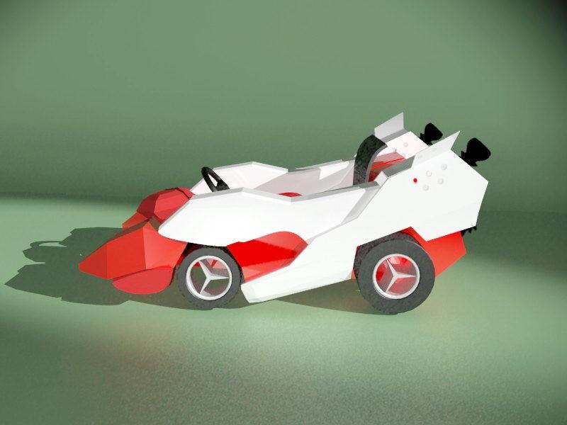 Go-Kart Car 3d rendering