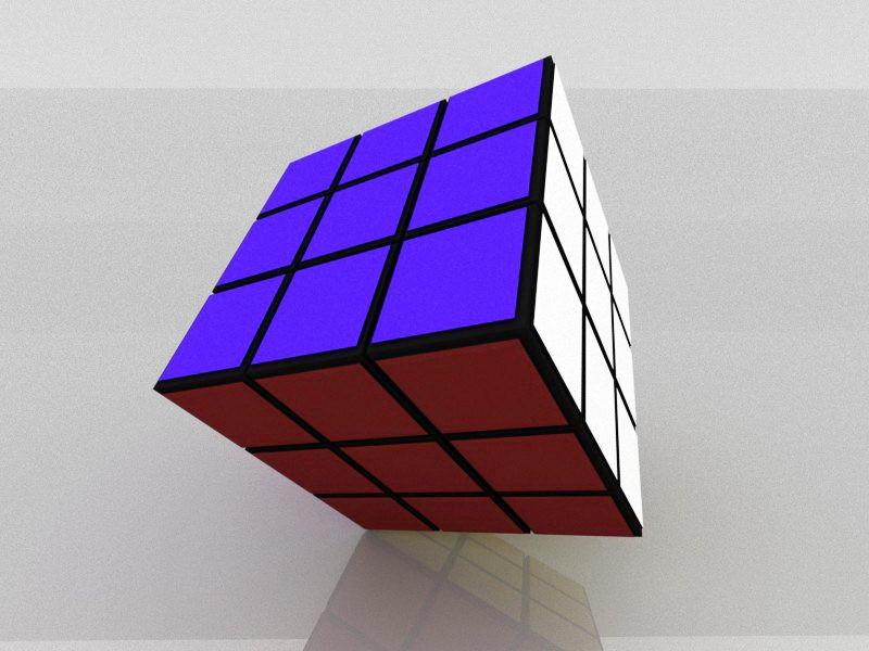 Magic Cube Toy 3d rendering