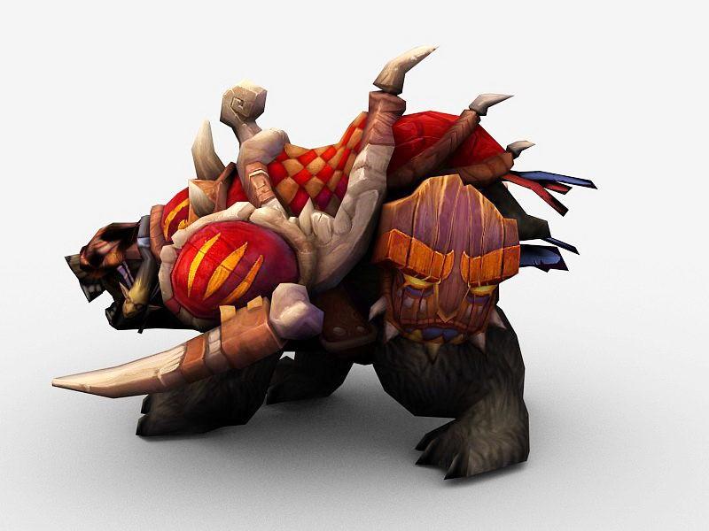 Amani Battle Bear 3d rendering