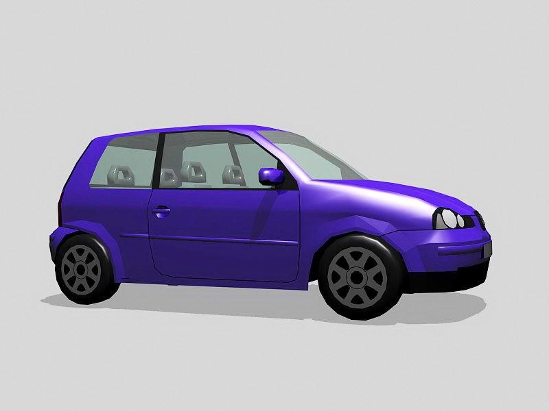 Small Mini Car 3d rendering