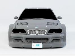 BMW M3 GTR E46 CSL 3d preview