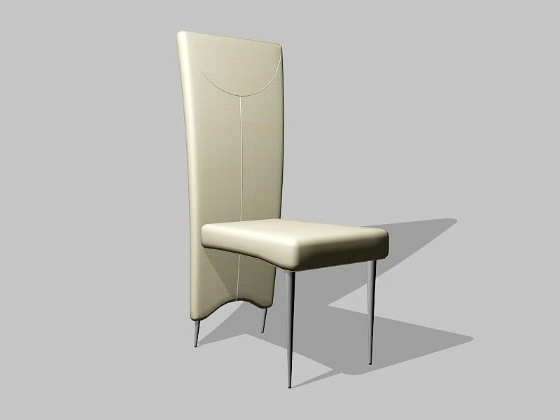 High Back Dining Chair 3d rendering