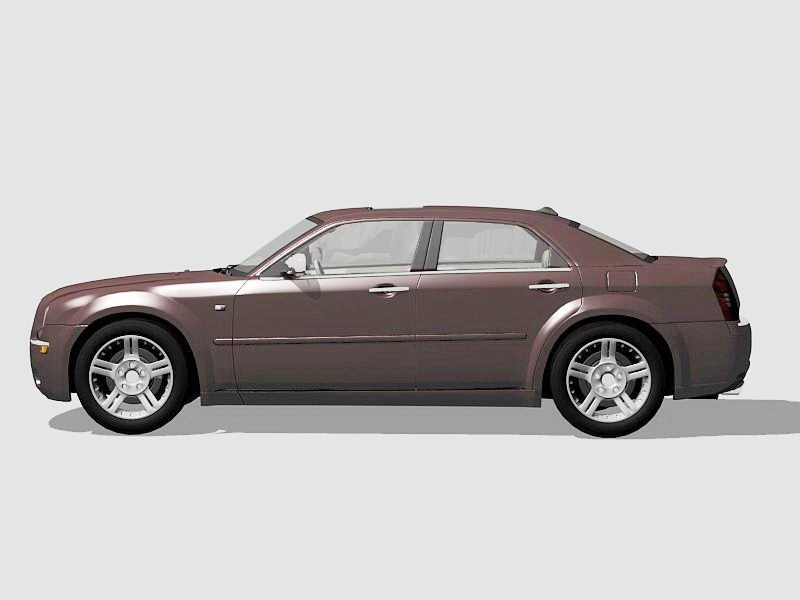 Chrysler 300 Car 3d rendering