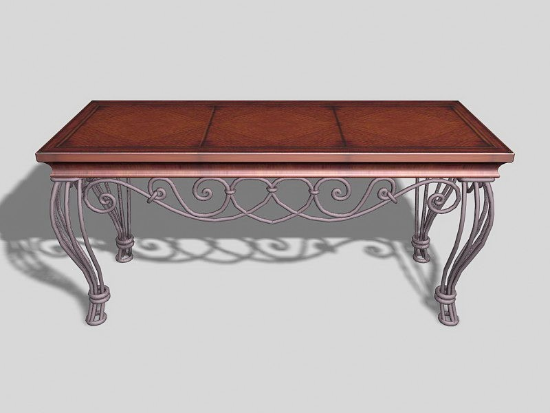 Vintage Coffee Table For Living Room 3d rendering