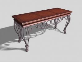 Vintage Coffee Table For Living Room 3d model preview