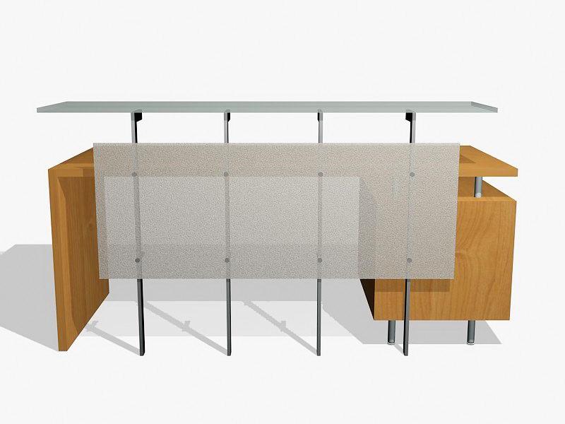 Small Reception Desk 3d rendering