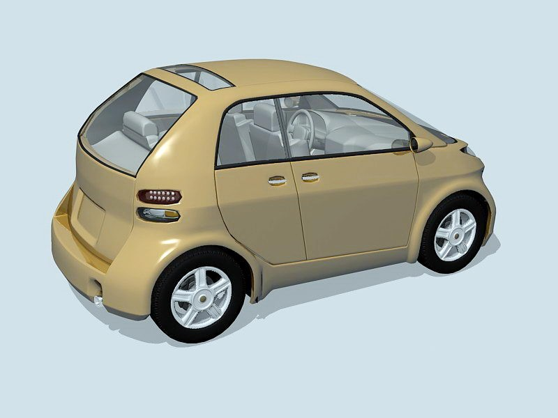 Small Smart Car 3d rendering