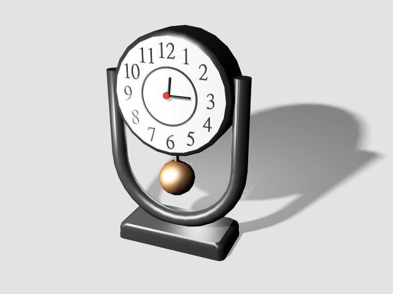 Small Pendulum Desk Clock 3d rendering