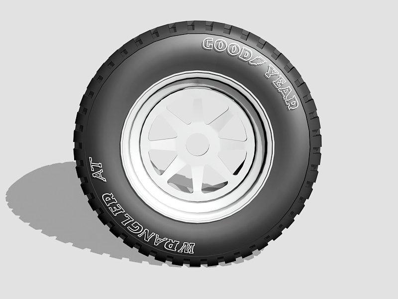 Goodyear Wrangler Truck Tire 3d rendering