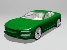 Green Sports Car 3d preview