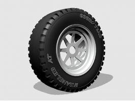 Goodyear Wrangler Truck Tire 3d preview