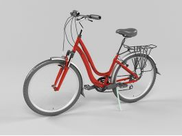 Red Bicycle 3d preview