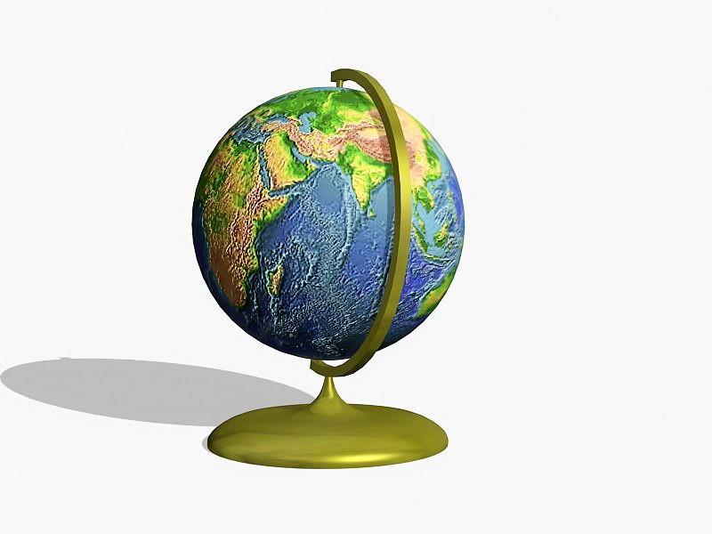Small Desk Globe 3d rendering