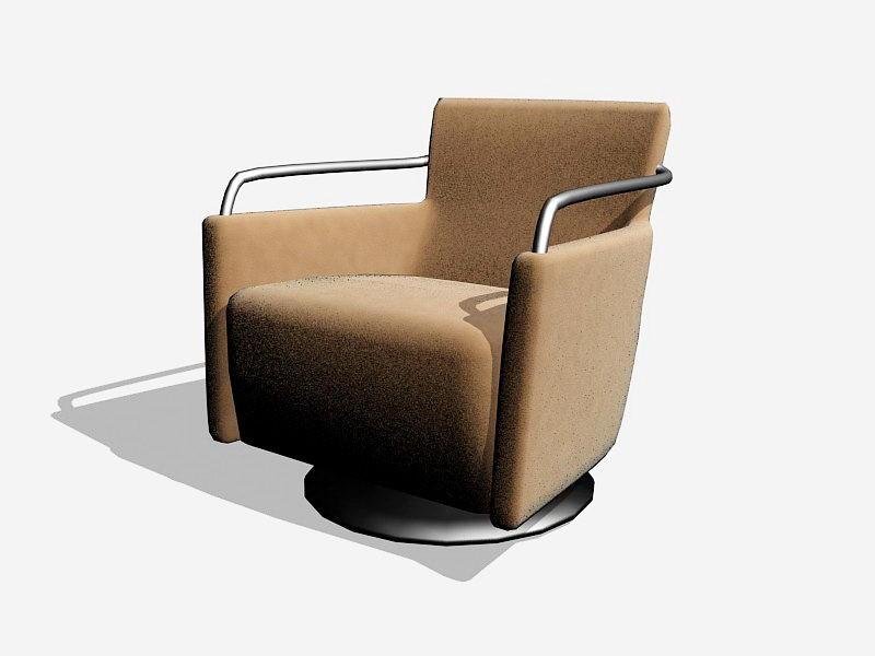 Upholstered Armchair 3d rendering