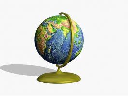 Small Desk Globe 3d preview