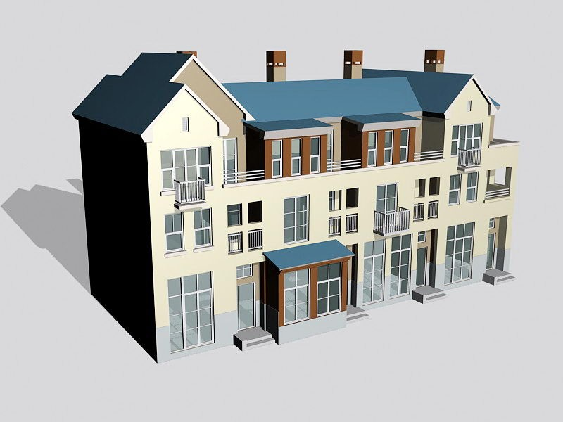 Dwelling House Exterior 3d rendering