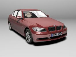 BMW Red Car 3d preview