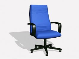 High Back Swivel Chair 3d preview
