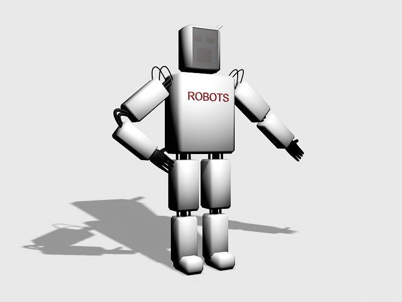 Simple Robot Concept Art 3d rendering