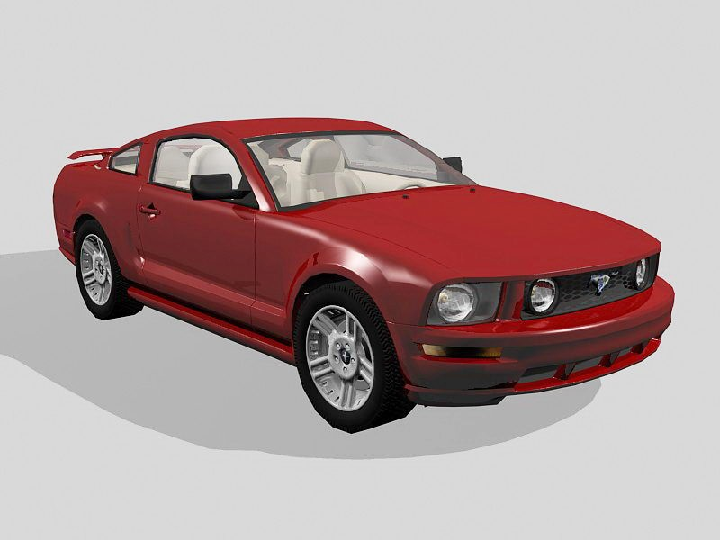 Ford Mustang GT 3d rendering