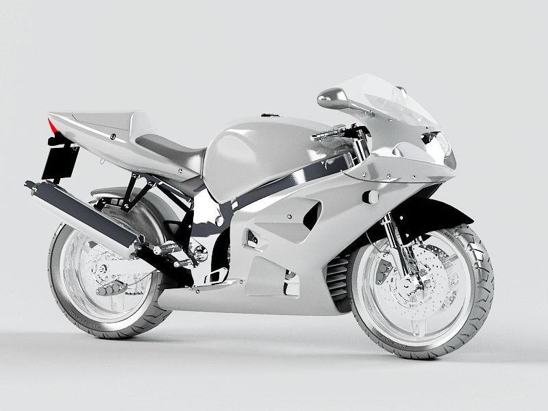 Exotic Motorcycle 3d rendering