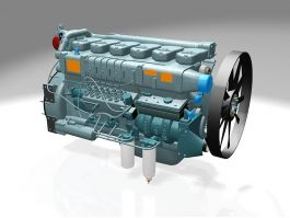 Car Engine with EGR 3d preview