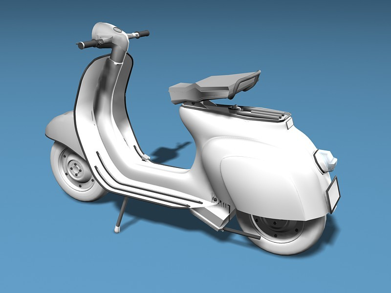 Vespa Motor Scooter 3d rendering