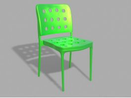 Green Plastic Chair 3d model preview