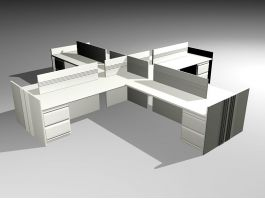 Office Space Cubicle 3d preview