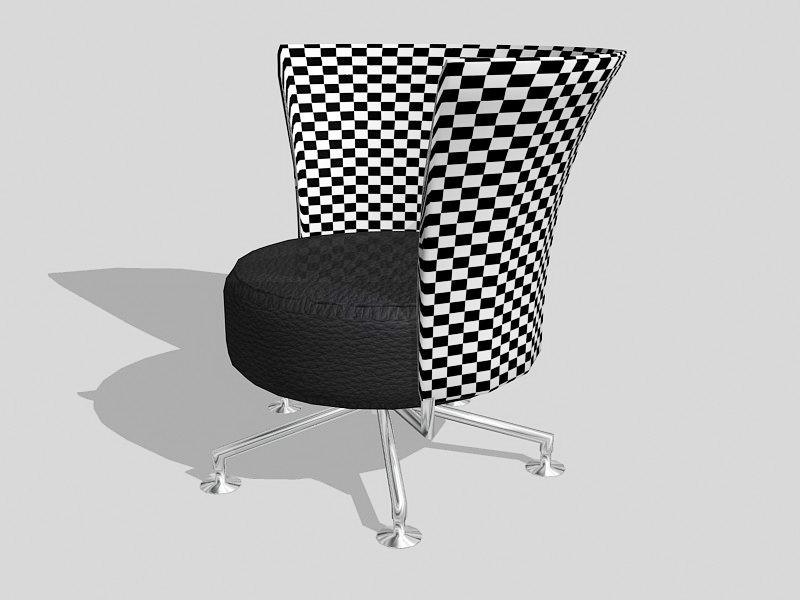 Swivel Barrel Chair 3d rendering