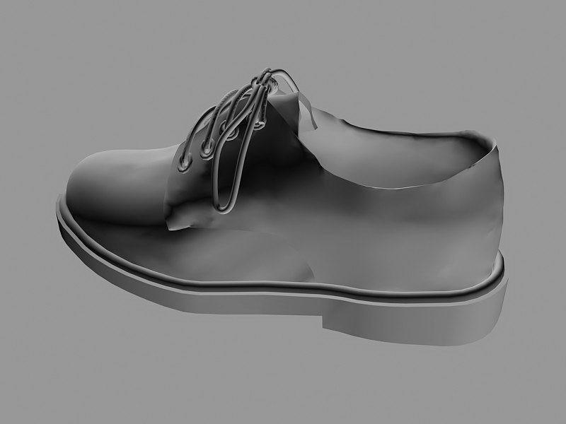 Men's Leather Shoe 3d rendering