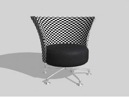 Swivel Barrel Chair 3d preview