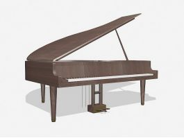 Grand Piano Instrument 3d model preview