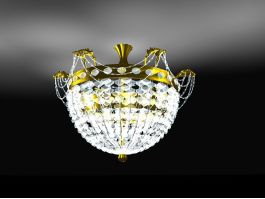 Modern Crystal Chandelier 3d model preview