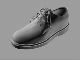 Men's Leather Shoe 3d preview