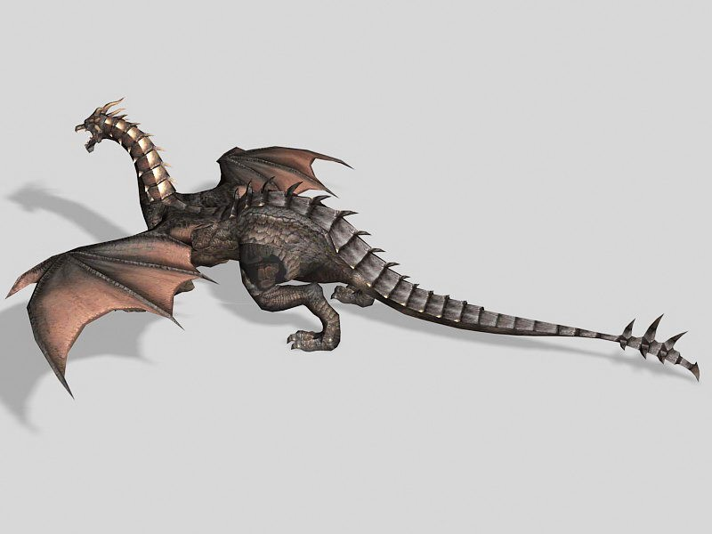 Dark Dragon 3d rendering