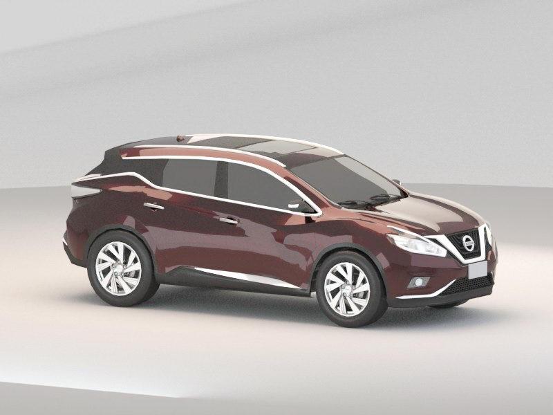 2015 Nissan Murano SUV 3d rendering