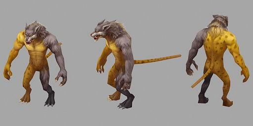 Anime Leopard Man 3d rendering