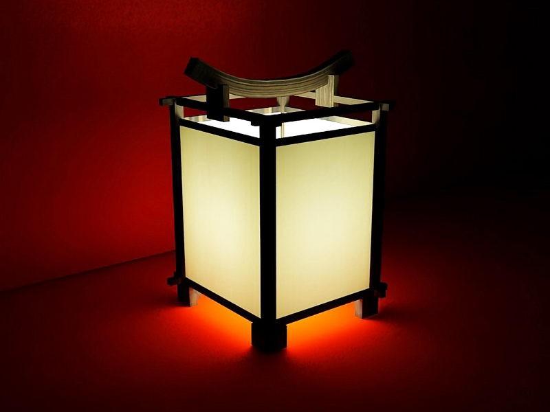 Japanese Lamp 3d rendering