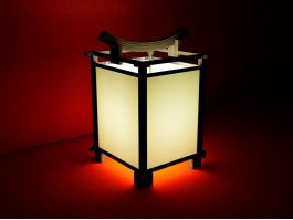 Japanese Lamp 3d preview