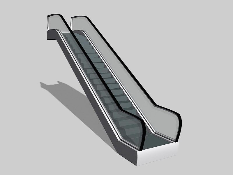 Small Escalator 3d rendering