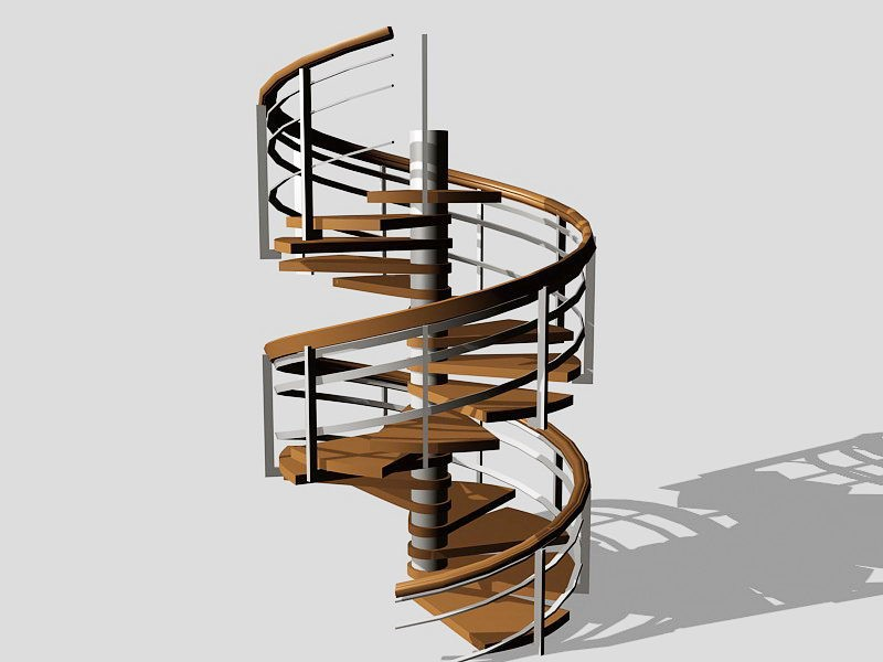 Home Spiral Staircase 3d rendering