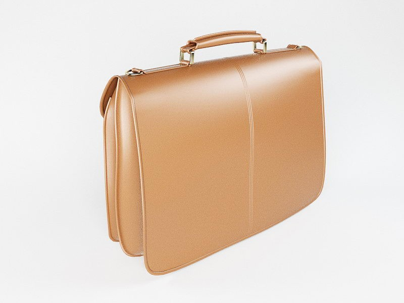 Men's Leather Briefcase 3d rendering