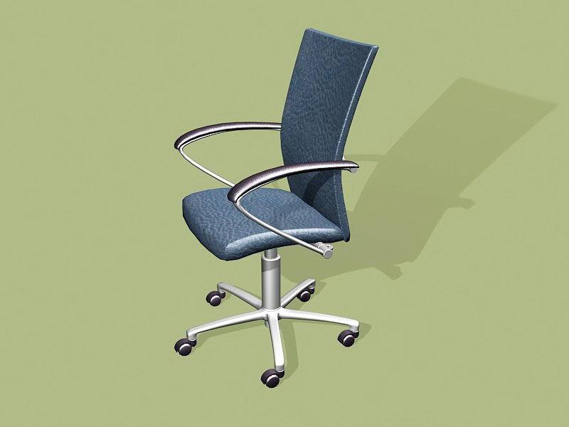 Office Swivel Desk Chair 3d rendering